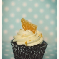 Dark Chocolate Cupcakes with Orange Buttercream