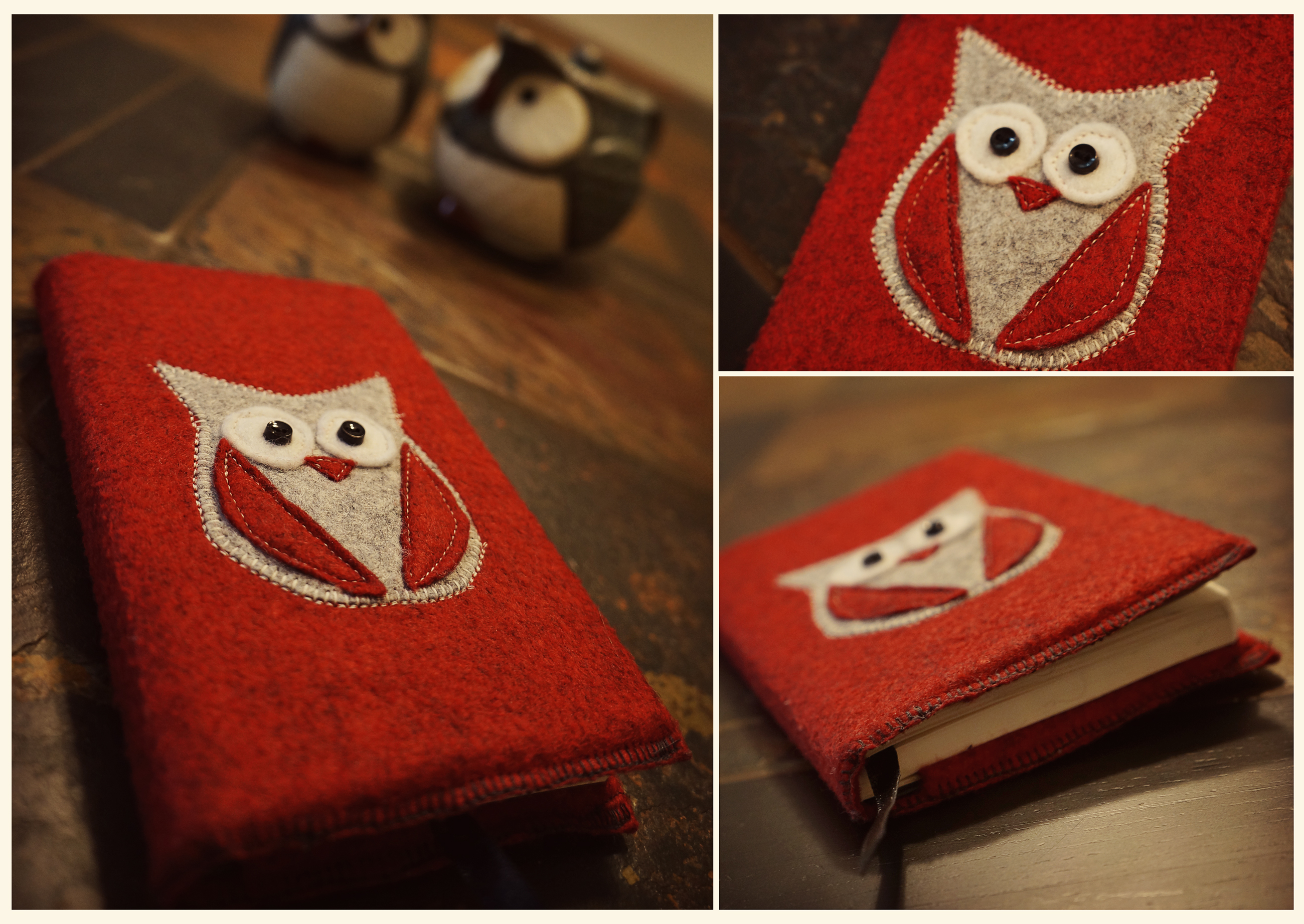 Felt Book Cover Diy ~ Diy felt notebook cover egg yolk days