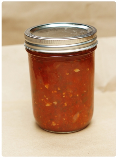I use half-pint jars because it makes it easier to pack into Christmas gift baskets.