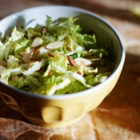 Quick Nappa Cabbage Slaw with Lime & Jalapeño